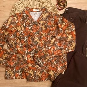 Fall Colors Jacket Large & Brown Denim Size 14